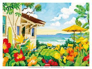 The Good Life - Tropical Beach House - Hawaii - Hawaiian Islands by Robin Wethe Altman