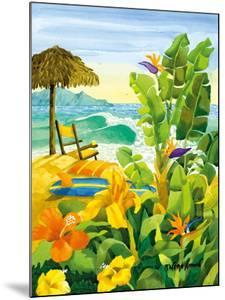 Tropical Holiday - Beach Chair Ocean View - Hawaii - Hawaiian Islands by Robin Wethe Altman