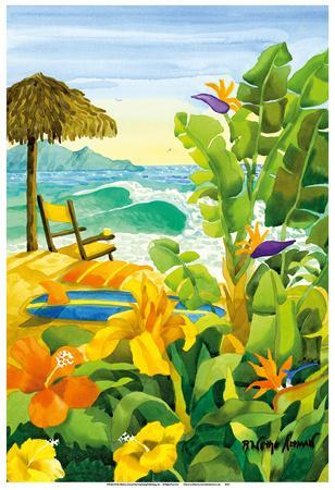 Tropical Holiday - Beach Chair Ocean View - Hawaii - Hawaiian Islands