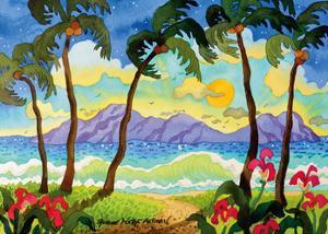 Tropical Palms - Beach Paradise - Hawaii - Hawaiian Islands by Robin Wethe Altman