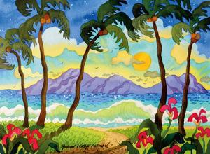 Tropical Palms - Beach Paradise - Hawaii - Hawaiian Islands by Robin Wethe Altman