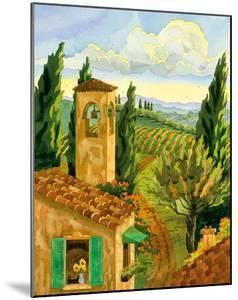 Tuscan Afternoon - Tuscany Italy - Italian Villa, Vineyards, Cypress Trees by Robin Wethe Altman