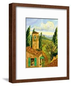 Tuscan Afternoon - Tuscany Italy - Italian Villa, Vineyards, Cypress Trees by Robin Wethe Altman