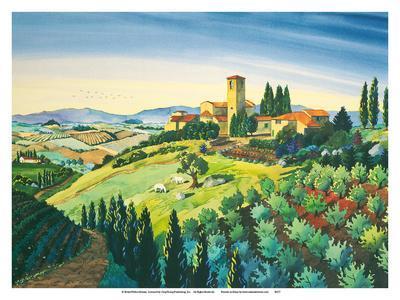 Tuscan Air - Tuscany Italy - Italian Villa, Vineyards, Cypress Trees