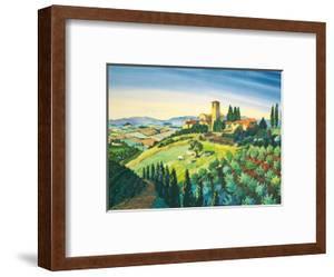 Tuscan Air - Tuscany Italy - Italian Villa, Vineyards, Cypress Trees by Robin Wethe Altman