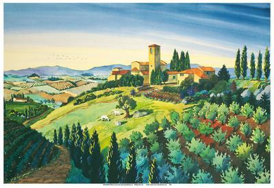 Tuscan Air - Tuscany Italy - Italian Villa, Vineyards, Cypress Trees