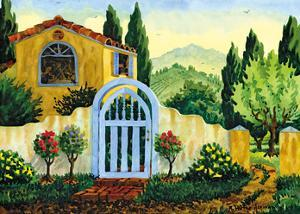 Tuscan Homestead - Tuscany Italy - Italian Villa by Robin Wethe Altman