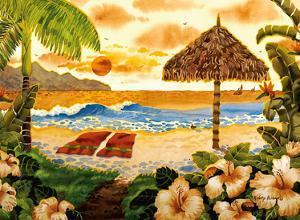 Two Towels - Beach Ocean View - Hawaii - Hawaiian Islands by Robin Wethe Altman