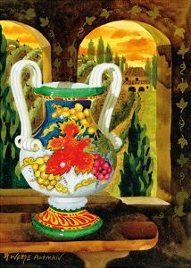 Vase with a View - Tuscany Italy - Italian Villa by Robin Wethe Altman
