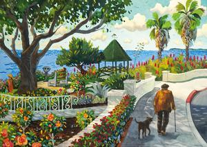 Walking By Las Brisas - Laguna Beach California - Mexican Seafood Restaurant by Robin Wethe Altman