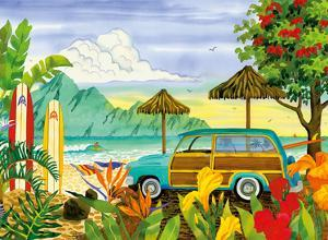 Woody - Surfer's Paradise Hawaii - Hawaiian Beach by Robin Wethe Altman