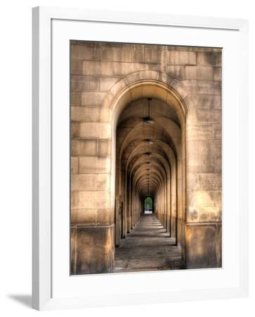 Archway through Manchester, England