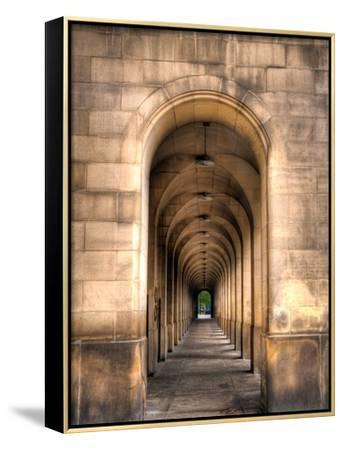 Archway through Manchester, England