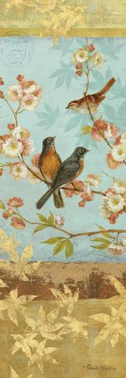 Robins and Blooms Panel-Pamela Gladding-Art Print
