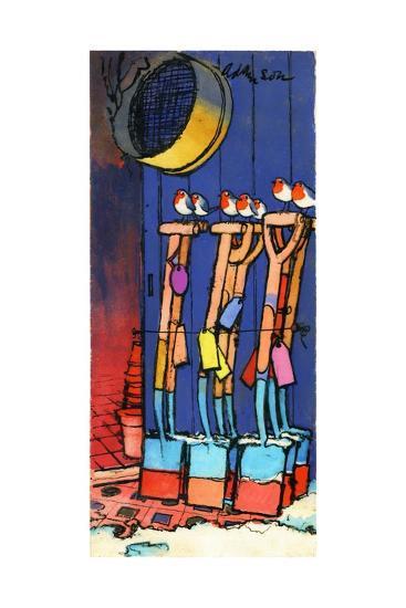 Robins and Spades, 1970s-George Adamson-Giclee Print