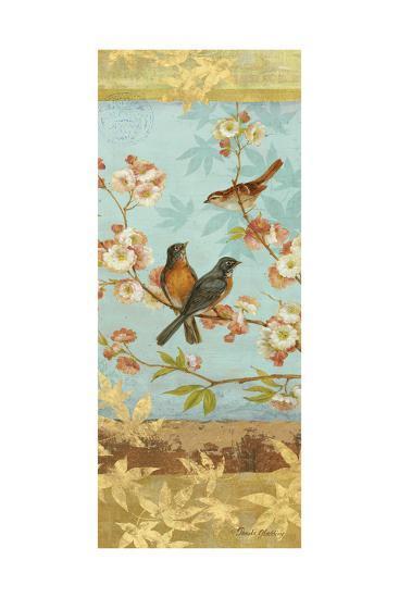 Robins & Blooms Panel-Pamela Gladding-Art Print