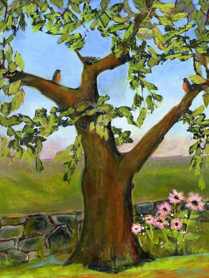 Robins Nest in a Tree-Blenda Tyvoll-Art Print