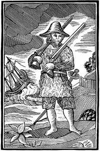 Robinson Crusoe, Chapbook Cut, 18th Century
