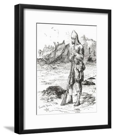 Robinson Crusoe on the Desert Island after Being Shipwrecked, from Adventures of Robinson Crusoe