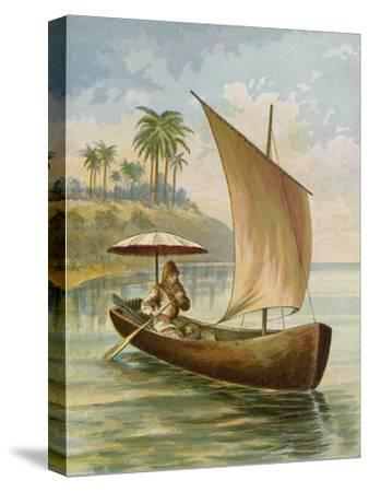 Robinson Crusoe Sailing in His Boat