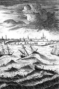 Robinson Crusoe Shipwrecked at Yarmouth, C1719