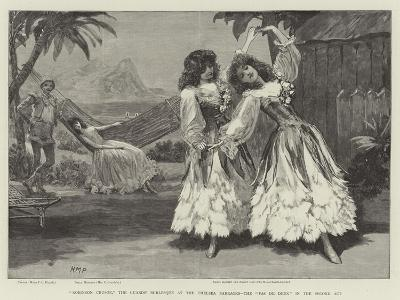 Robinson Crusoe, the Guards' Burlesque at the Chelsea Barracks, the Pas De Deux in the Second Act-Henry Marriott Paget-Giclee Print