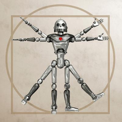 Robot, Artwork-Friedrich Saurer-Photographic Print