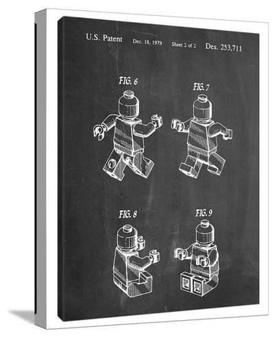 Robot B-Cole Borders-Stretched Canvas Print