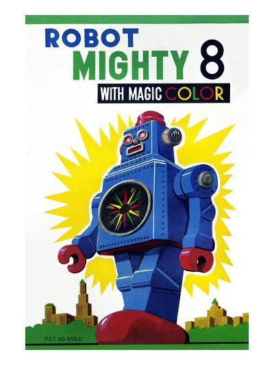 Robot Mighty 8 with Magic Color--Art Print