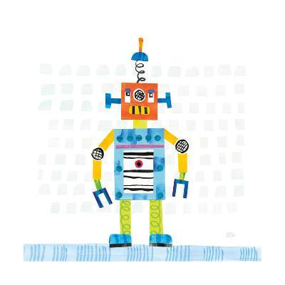 Robot Party II on Squares-Melissa Averinos-Art Print
