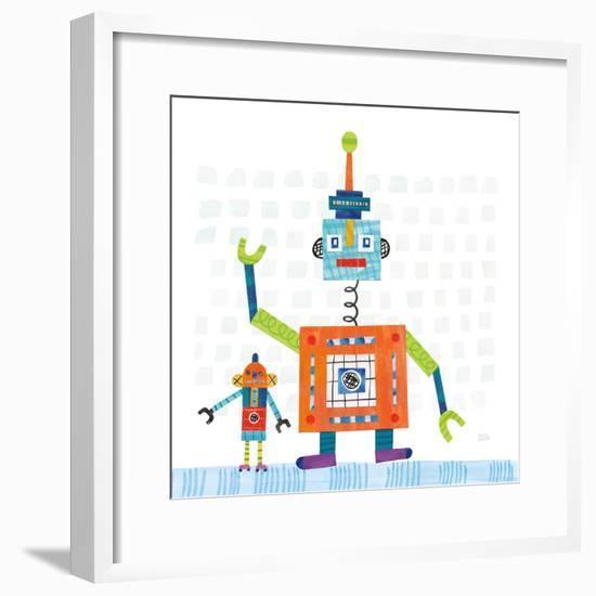 Robot Party III on Square Toys-Melissa Averinos-Framed Art Print