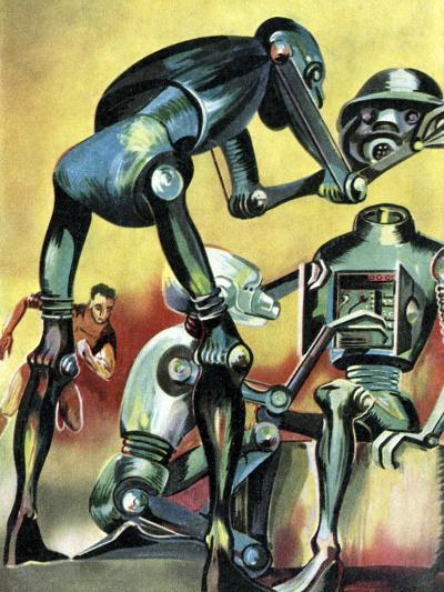 Robot Science-fiction Artwork-CCI Archives-Photographic Print