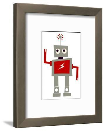 Robot with Red Lightning