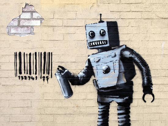 Robot-Banksy-Giclee Print