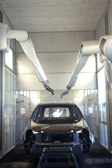 Robotic Car Production Line-Ria Novosti-Photographic Print