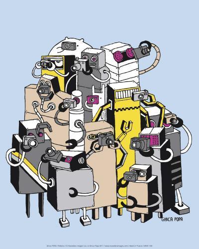 Robots 2-Ghica Popa-Art Print