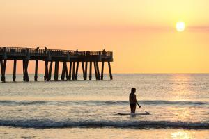 Early Morning at the Pier in Jacksonville Beach, Florida. by RobWilson