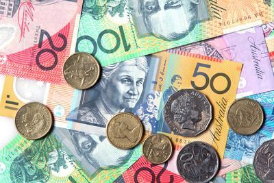 Full-Frame of Australian Notes and Coins