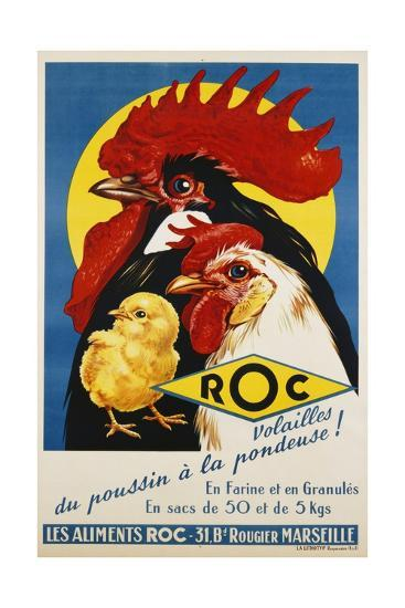 Roc Les Aliments Chicken Feed Poster--Giclee Print