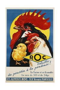 Roc Les Aliments Chicken Feed Poster