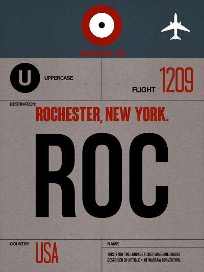 ROC Rochester Luggage Tag I-NaxArt-Art Print