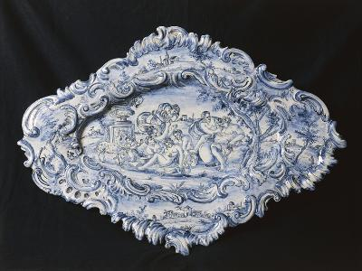 Rocaille-Style Plate, 1742--Giclee Print
