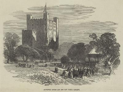 Rochester Castle and the New Public Gardens--Giclee Print