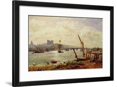 Rochester Cathedral and Castle, C.1820-30 (Oil on Panel)-Frederick Nash-Framed Giclee Print