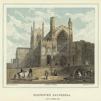 Rochester Cathedral, North Western View-Hablot Knight Browne-Giclee Print