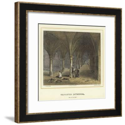 Rochester Cathedral, View of the Crypt-Hablot Knight Browne-Framed Giclee Print