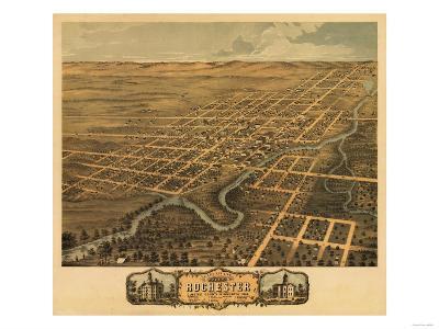 Rochester, Minnesota - Panoramic Map-Lantern Press-Art Print