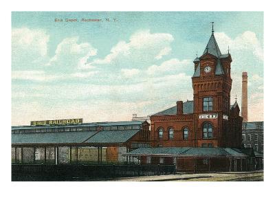Rochester, New York - Eric Train Depot View-Lantern Press-Art Print