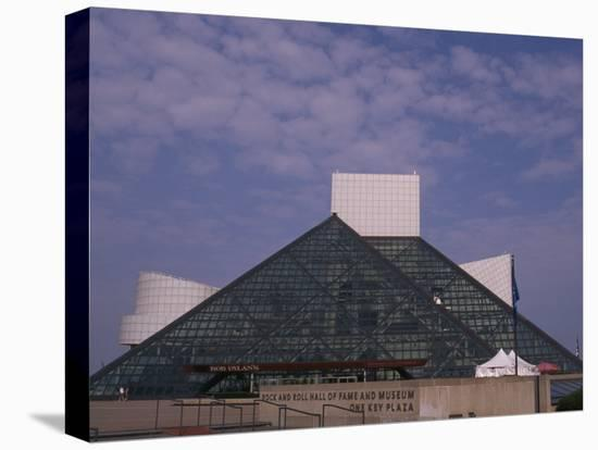 Rock and Roll Hall of Fame in Downtown Cleveland--Stretched Canvas Print