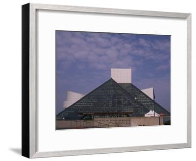 Rock and Roll Hall of Fame in Downtown Cleveland--Framed Photographic Print